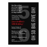 50.o ¡Rojo blanco CINCO OH del negro moderno del Comunicados Personalizados
