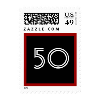 50 o Rojo blanco negro intrépido grande de la fies