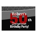 50.o Rojo blanco W1920 del negro del cumpleaños de Anuncios