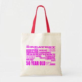 50.o rosa de los cumpleaños de los chicas: Los cin Bolsa Tela Barata