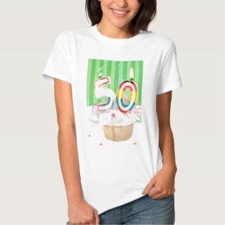 50.o saludo de la fiesta de cumpleaños playera