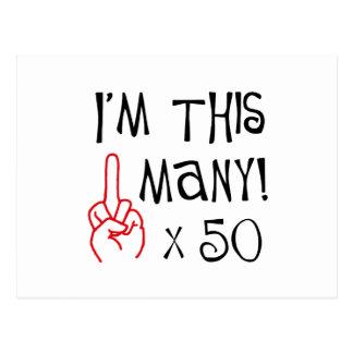 50.o saludo del dedo medio del cumpleaños postales