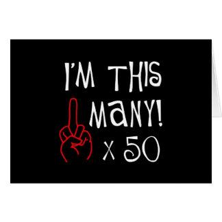 50.o saludo del dedo medio del cumpleaños tarjeta de felicitación
