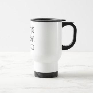 50.o saludo del dedo medio del cumpleaños tazas de café