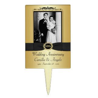 50.o Selección de la torta del aniversario de boda Decoración De Tarta