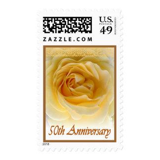 50.o Sello del rosa de la invitación del aniversar