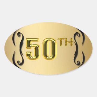 50.o Sellos y pegatinas del oro Calcomanía De Óval Personalizadas
