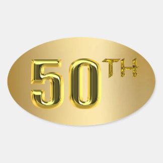 50.o Sellos y pegatinas del oro Pegatinas De Óval Personalizadas