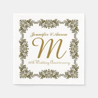 50.o Servilletas de papel del aniversario de boda