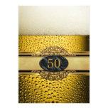 50.o Sirve a la fiesta de cumpleaños negra del oro Comunicados Personales