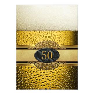 50 o Sirve a la fiesta de cumpleaños negra del oro Comunicados Personales