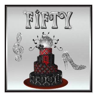 """50.o Tacones altos de la chispa de la torta de la Invitación 5.25"""" X 5.25"""""""