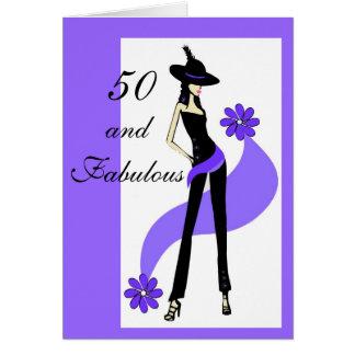 50 o Tarjeta de cumpleaños para las mujeres