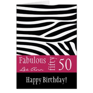 50 o Tarjeta de cumpleaños para las mujeres del na
