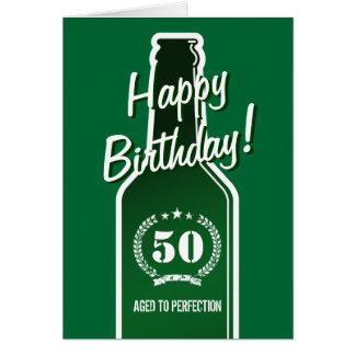 50.o Tarjeta de cumpleaños para los hombres el | e