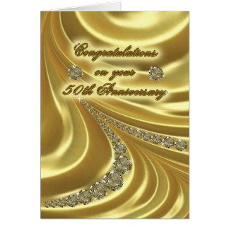50.o Tarjeta de felicitación del aniversario de bo
