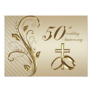 50.o Tarjeta de la invitación del aniversario de Invitación 13,9 X 19,0 Cm