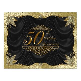 50.o Tarjeta de la invitación del aniversario de