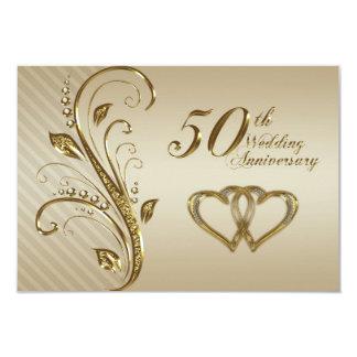 """50.o Tarjeta de RSVP del aniversario de boda Invitación 3.5"""" X 5"""""""