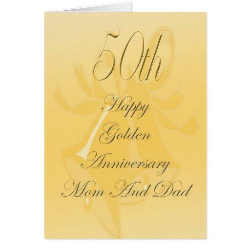 50.o Tarjeta del aniversario de boda para la mamá