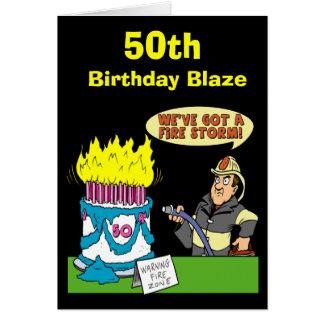 50.o Tarjeta del resplandor del cumpleaños