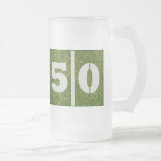 50.o Taza de cristal adaptable del fútbol de la