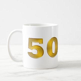 50.o Taza de oro del aniversario