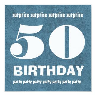 """50.o Tejanos W1443R del cumpleaños de la SORPRESA Invitación 5.25"""" X 5.25"""""""
