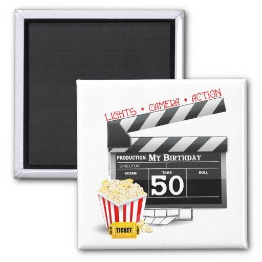 50.o Tema de la película del cumpleaños Imán Cuadrado