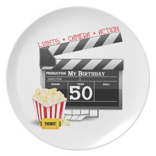 50.o Tema de la película del cumpleaños Platos De Comidas