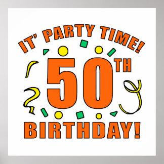 50.o Tiempo de la fiesta de cumpleaños Póster