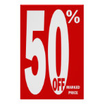 50% OFF Retail Sale Poster