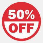 50% OFF ROUND STICKERS