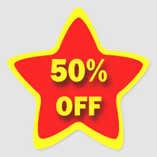 50% OFF Star Stickers