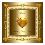 50.os corazones elegantes 2 del oro del comunicados personalizados