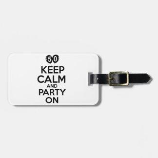 50.os diseños del cumpleaños del año etiqueta de maleta