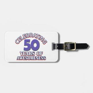 50.os diseños del cumpleaños del año etiquetas de equipaje