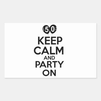 50.os diseños del cumpleaños del año pegatina