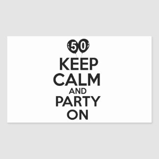 50.os diseños del cumpleaños del año pegatina rectangular