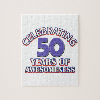 50.os diseños del cumpleaños del año puzzles con fotos