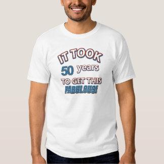 50.os diseños del cumpleaños del año remeras