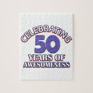 50.os diseños del cumpleaños del año rompecabezas con fotos