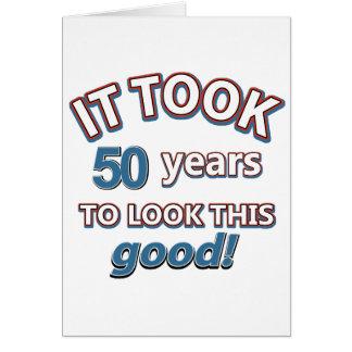 50.os diseños del cumpleaños del año tarjeta de felicitación