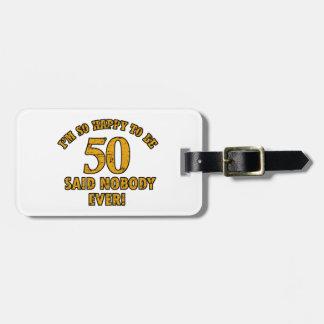50.os diseños del cumpleaños etiquetas bolsa