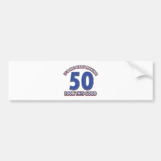 50.os diseños del cumpleaños pegatina para auto