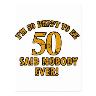 50.os diseños del cumpleaños postales