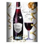 50.os globos del oro del negro del vino del cumple anuncios personalizados