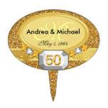 50.os primeros de la torta del aniversario de boda decoración para tarta