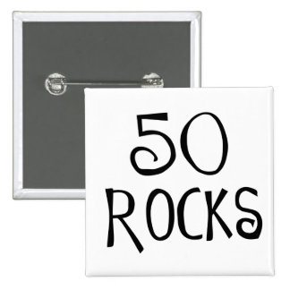 50.os regalos de cumpleaños, 50 ROCAS Pins