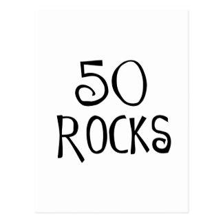 50.os regalos de cumpleaños, 50 ROCAS Tarjetas Postales